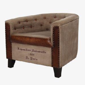 Canvas Leather Sofa