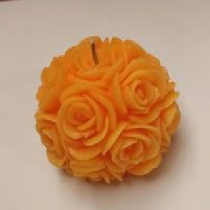 Orange Rose Ball Candle
