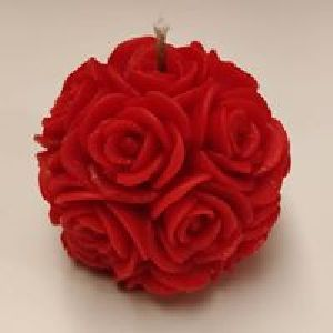 Red Rose Ball Candle