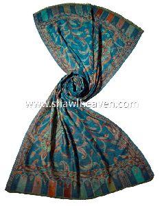 Blue Pashmina Shawl For Lady