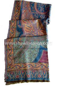 Traditional Pashmina Shawl With Paisleys