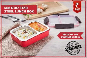 Duo Star Steel Lunch Box