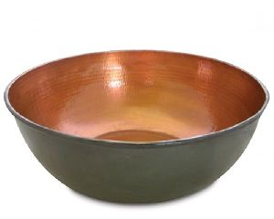 Copper Metal Bowl For Pedicure
