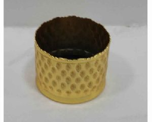 Embossed Metal Votive For Candle Lighting