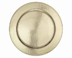 Gold Plated Hammered Charger Plate