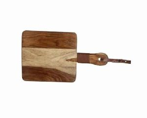 Wooden Chopping/ Cutting Board For Kitchen With Leather H