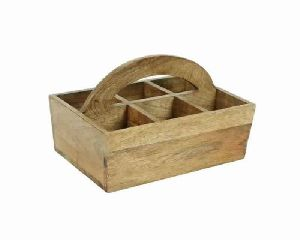 Wooden Cutlery Stand/caddy For Kitchen