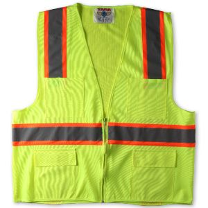 SAFETY JACKET WITH REFLECTIVE TAPE