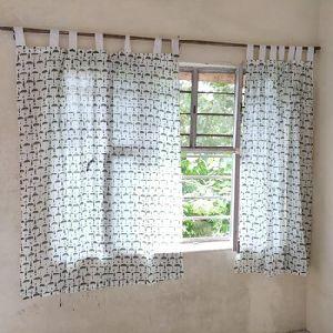Indian Hand Block Printed Window Curtain