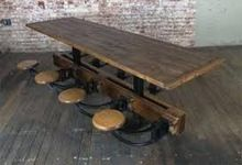 Wooden Swing Dining Table