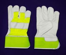 Fluorescent Chrome Canadian Leather Gloves