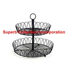 Black Wire Two Tier Cup Cake Stand