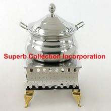 Square Patli With Brass Legs Chafing Dish