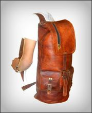 Real Leather Vintage Looks Hiking Bag Backpack