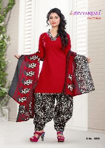 Chanderi Cotton Unstitced Salwar Kameez