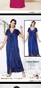 Nighty, Two Pieces, Sartin Fabric