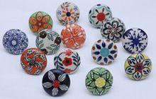 Multicolor Beautiful Stylish Flower Design Ceramic Knobs Kitchen