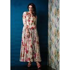 Ladies Printed Gown