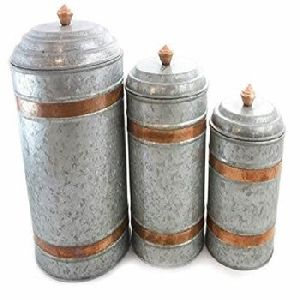 Galvanized Canister Sets