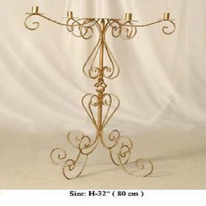 Gold Plated Metal Candelabra