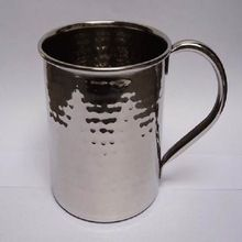 Stainless Steel Hammered Shiny Mug
