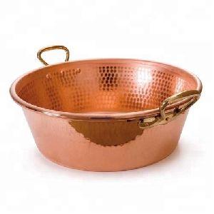 Copper Jam Pan With Bronze Handles