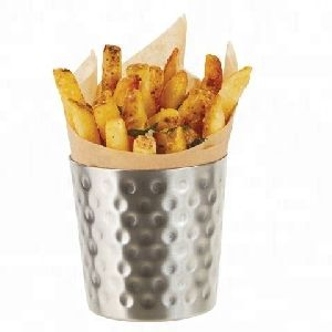 Stainless Steel Hammered Fry Cup
