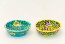 Blue Pottery Vintage Bowl