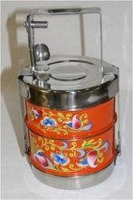 Marvelous Hand Painted Hot Tiffin Lunch Box