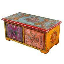 Wooden Double Drawer Set Jewellary Box
