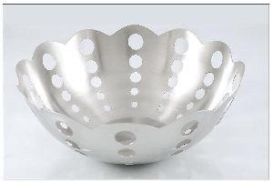 Stainless Steel Lotus Fruit Bowl