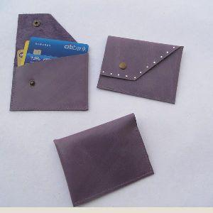 Gem Stones Leather Credit Card Holder