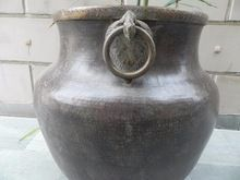 Brass Bronze Vintage Planter