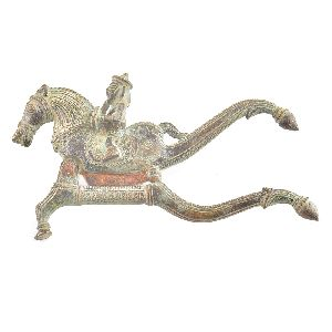 Brass Nut Cracker With A Rider On A Horse