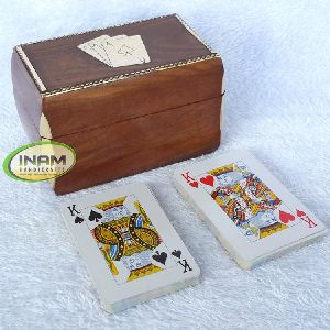 Sheesham Wood Box With Playing Cards