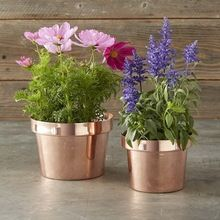 Copper Metal Planter Pot