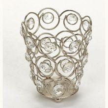 Silver Crystal Votive Candle Holder