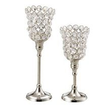Tulip Crystal Candle Holder