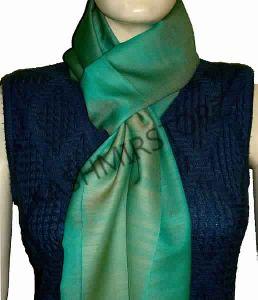 Reversible Cashmere Silk Shawl