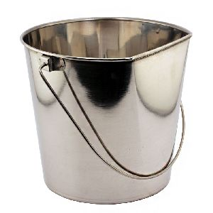 Stainless Steel Flat Sided Pails With And Without Hooks