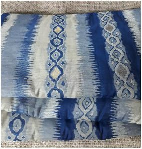 Grey Jacquard Embroidery Cotton Brocade Fabric