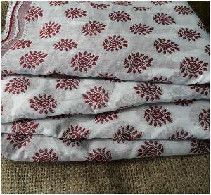 Maroon Jaquard Brocade Cotton Fabric
