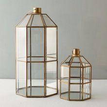 Round Brass And Glass Beaden Lantern