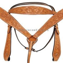 Leather Horse Bridle Headstall Breast Collar