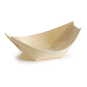 Disposable Serving Wood Brown Boat