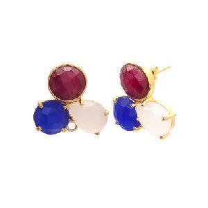Multi Stone Gemstone Earring