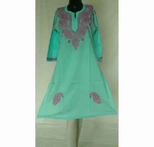 Kia Blue Lucknowi Chikan Cotton Kurta