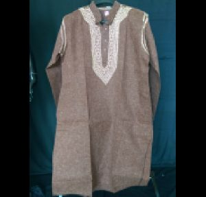 Kia Brown Cotton Lucknowi Chikan Kurta