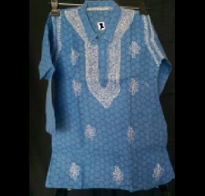 Kia Cotton Kids Lucknowi Chikan Kurta