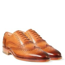 Handmade Welted Blimey Tawny Tan Brogue Formal Shoes